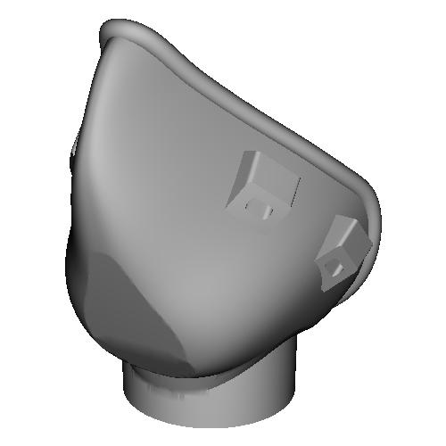 フィルター交換型立体マスク本体1/3(コロナウイルスや花粉や防塵対策など)
