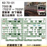 KO70-01:7021F-7025F床下機器+台車枠【武蔵模型工房 Nゲージ 鉄道模型】