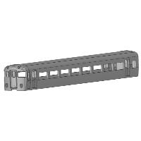 KNR Nゲージ11400系タイプ ク11500形タイプ ボディ1両