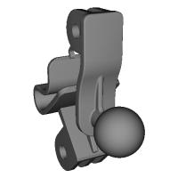 ロータスエリーゼ(S2前期)用スマートフォン取付パーツ(ボール直径17mm)