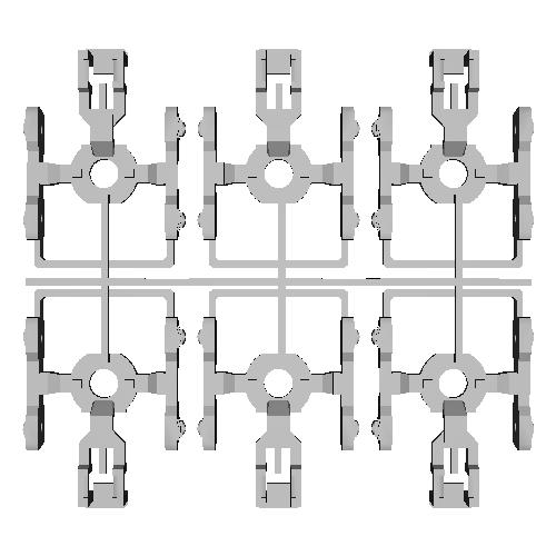 専用線貨車 板台車(3両セット)