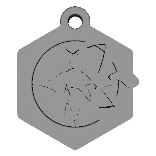 漢字「忍」のネックレス、ストラップ