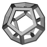 正12面体 (Dodecahedron) スケルトンモデル
