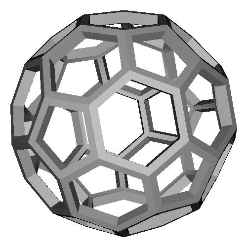 切頂20面体 (Truncated_Icosahedron) スケルトンモデル