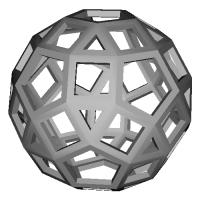 斜方20・12面体 (Rhombicosidodecahedron)スケルトンモデル