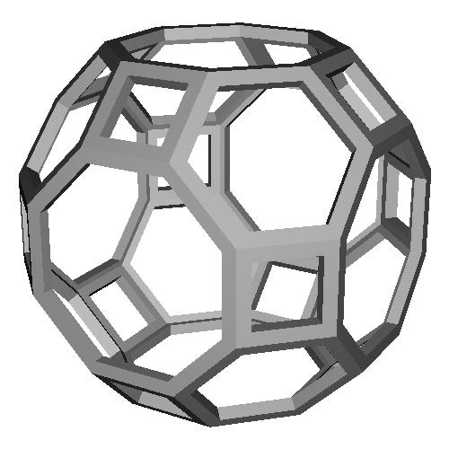 斜方切頂6,8面体 (Truncated_Cuboctahedron) スケルトンモデル