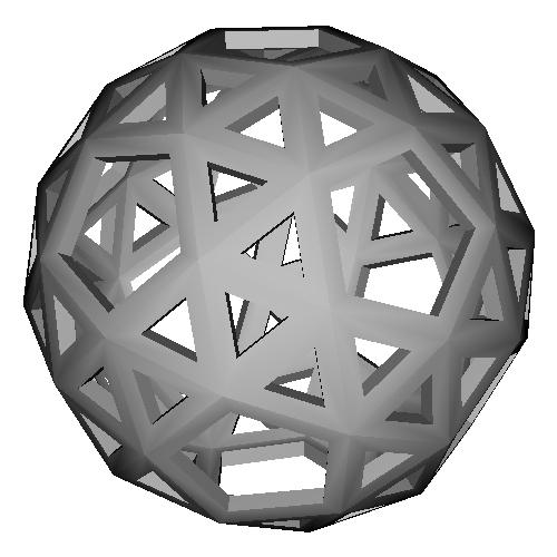変形12面体 (Snub_Dodecahedron) スケルトンモデル