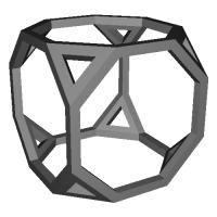 切頂6面体  (Truncated_cube) スケルトンモデル