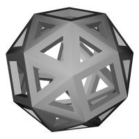 変形6面体 (Snub_cube) スケルトンモデル