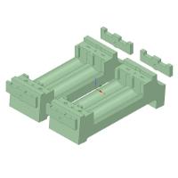 単3電池用バッテリーホルダー(2セル用,2個セット)
