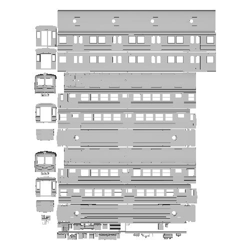 TKK 5200系 地方譲渡タイプ Nゲージボディ2両セット未塗装組立キット