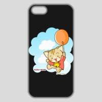 すずにゃん(風船)ブラック iPhone 5/5s