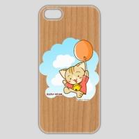 すずにゃん(風船)ウッド iPhone 5/5s