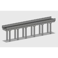 Nゲージ 単線高架橋(旧タイプ) 直線(280mm)