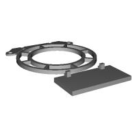インテルリテールクーラーを逆さに置いたときに平らにするパーツとプッシュピンに付ける部品
