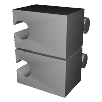 組木屋4ピースジグソーパズル・レッド(偶数ピース)