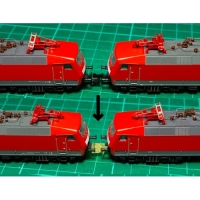 欧州型Nゲージ 自然解放防止カプラー 台車マウント型NEMソケット用ショートタイプ 8両分16個