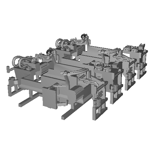 TB19-32:10000系列連結器周辺パーツ【武蔵模型工房 Nゲージ 鉄道模型】