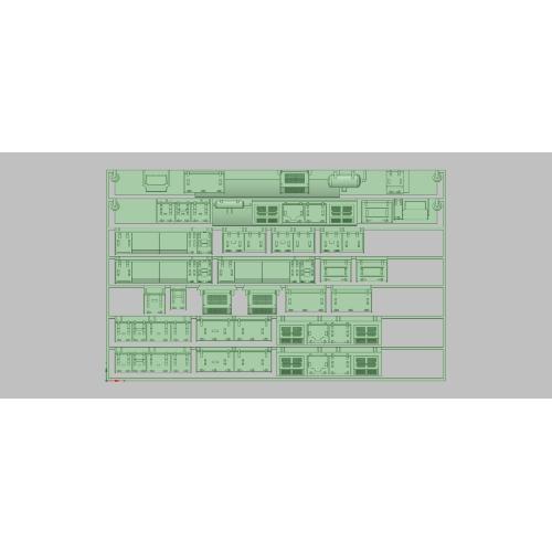 T-107 E231-500 床下セット (総武線更新車用) (TOMIX用)