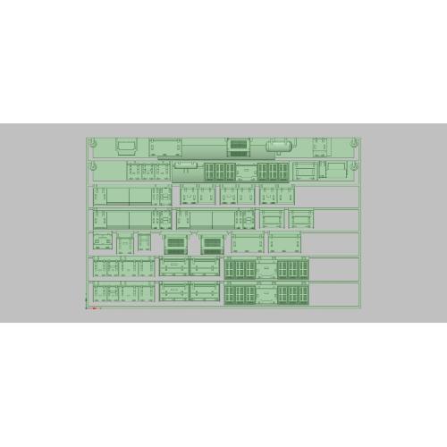 T-106 E231-500 床下セット (山手線/総武線未更新車用) (TOMIX用)