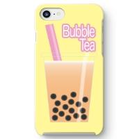 【タピオカミルクティー柄】iPhone7用スマホケース