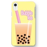 【タピオカミルクティー柄】iPhone XR 用スマホケース