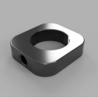 RMSネジの対物レンズをM6ネジで固定するアダプター