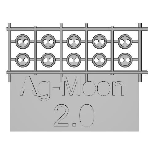 Ag-Moon縁ありボタン 2.0mm 10個