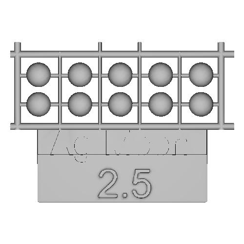 Ag-Moon足つきボタン 2.5mm 10個