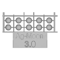 Ag-Moon足つきボタン 3.0mm 10個