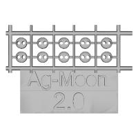Ag-Moonフラットボタン  2.0mm  10個