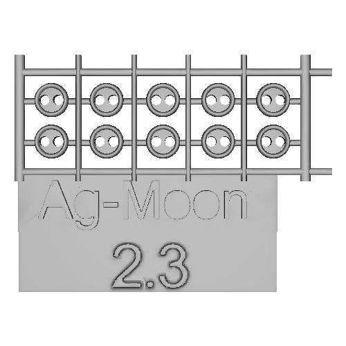 Ag-Moon縁ありボタン  2.3mm  10個