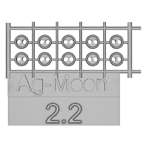 Ag-Moon縁ありボタン  2.2mm  10個