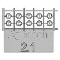 Ag-Moon縁ありボタン  2.1mm  10個