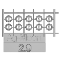 Ag-Moon縁ありボタン 2.9mm 10個