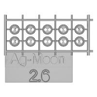 Ag-Moon縁ありボタン 2.6mm 10個