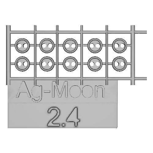 Ag-Moon縁ありボタン 2.4mm 10個