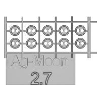 Ag-Moon縁ありボタン 2.7mm 10個