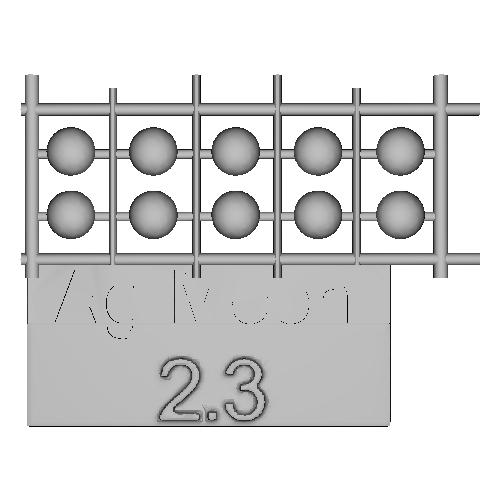 Ag-Moon足つきボタン 2.3mm 10個