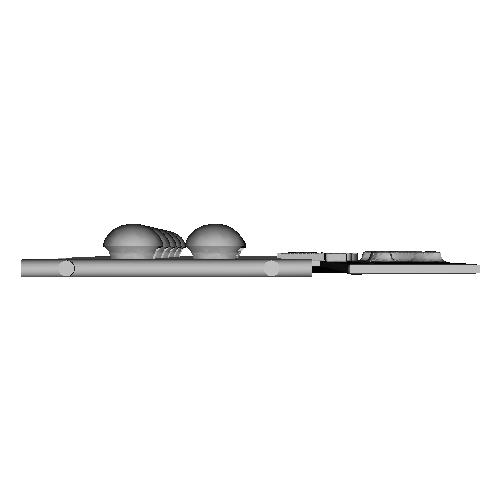 Ag-Moon足つきボタン 2.4mm 10個