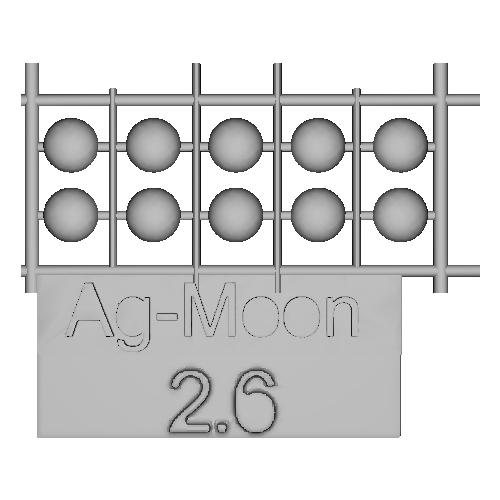 Ag-Moon足つきボタン 2.6mm 10個