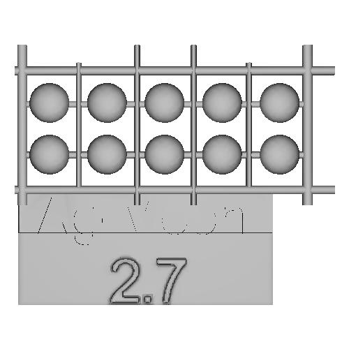 Ag-Moon足つきボタン 2.7mm 10個