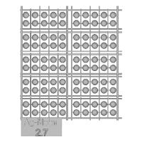 Ag-Moon足つきボタン 2.7mm 100個