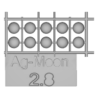 Ag-Moon足つきボタン 2.8mm 10個
