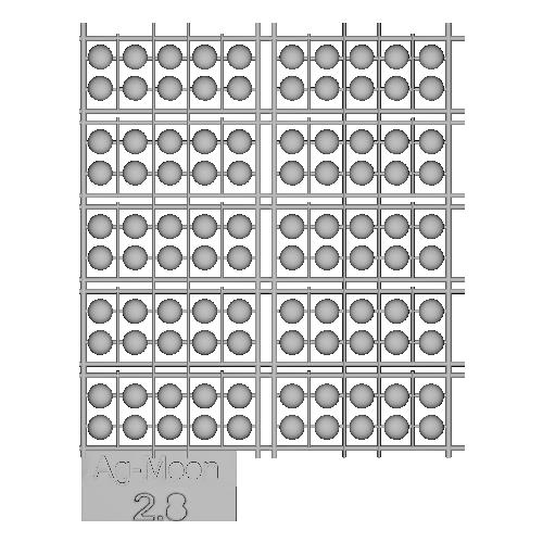 Ag-Moon足つきボタン 2.8mm 100個