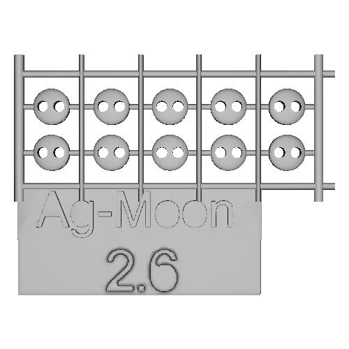 Ag-Moonフラットボタン 2.6mm 10個