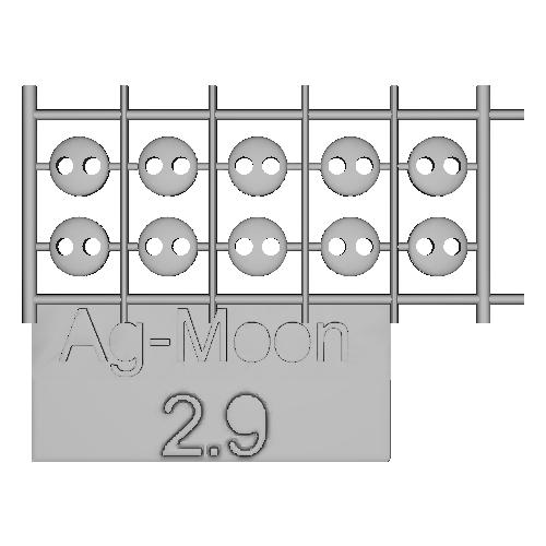 Ag-Moonフラットボタン 2.9mm 10個
