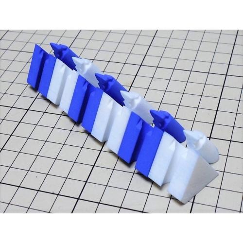 組木屋6ピースジグソーパズル・ブルー(全ピース)