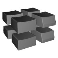 TL Split Keyabord用キーキャップ 扇形部分(8キーのみ)