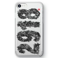 2918べにたんぐる iPhone 7クリアケース